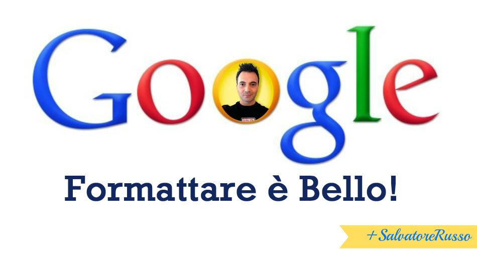 formattare testo google+