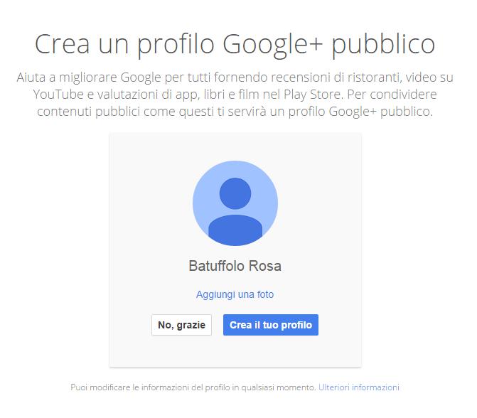 account google plus