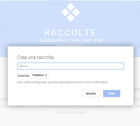 raccolte google plus