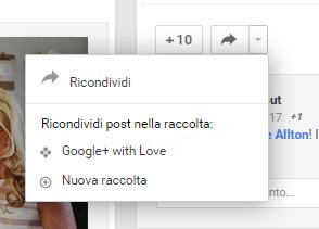 google+ raccolte